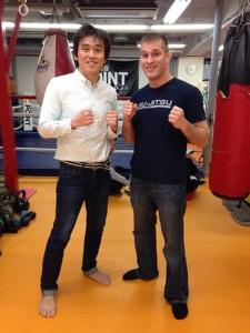 Yuki Kondo and Precision MMA Coach Brian McLaughlin